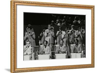 The Brass Section of the Count Basie Orchestra, Royal Festival Hall, London, 18 July 1980-Denis Williams-Framed Photographic Print