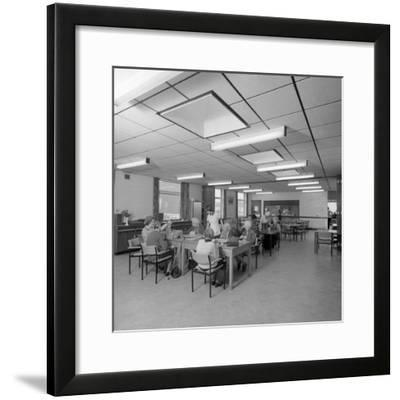 Tea Room, Montague Hospital, Mexborough, South Yorkshire, 1977-Michael Walters-Framed Photographic Print