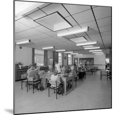 Tea Room, Montague Hospital, Mexborough, South Yorkshire, 1977-Michael Walters-Mounted Photographic Print
