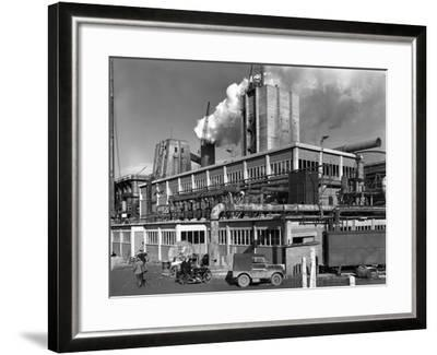 Manvers Coal Processing Plant, Wath Upon Dearne, Near Rotherham, South Yorkshire, January 1957-Michael Walters-Framed Photographic Print