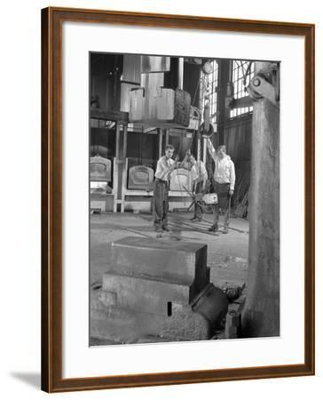 Hot Iron Ready for Forging, J Beardshaw and Sons, Sheffield, South Yorkshire, 1963-Michael Walters-Framed Photographic Print