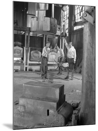 Hot Iron Ready for Forging, J Beardshaw and Sons, Sheffield, South Yorkshire, 1963-Michael Walters-Mounted Photographic Print