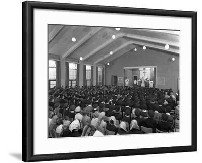 Catholic School Mass, South Yorkshire, 1967-Michael Walters-Framed Photographic Print