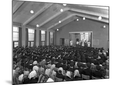 Catholic School Mass, South Yorkshire, 1967-Michael Walters-Mounted Photographic Print