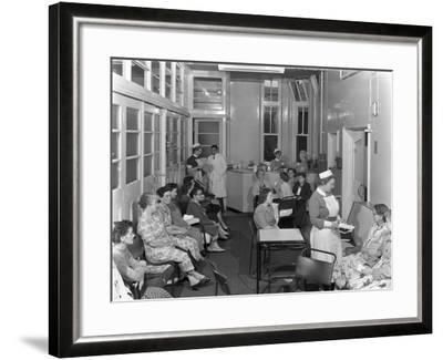 Outpatients Awaiting Treatement at the Montague Hospital, Mexborough, South Yorkshire, 1959-Michael Walters-Framed Photographic Print