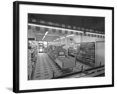 Self Service Shopping, Carlines Store, Goldthorpe, South Yorshire, 1961-Michael Walters-Framed Photographic Print