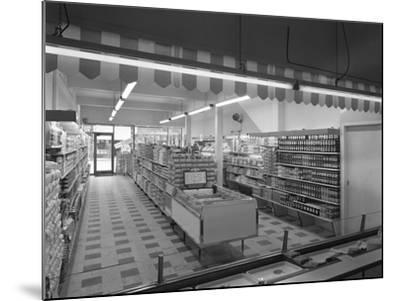 Self Service Shopping, Carlines Store, Goldthorpe, South Yorshire, 1961-Michael Walters-Mounted Photographic Print