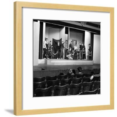 A Scene from the Terence Rattigan Play, Ross, Worksop College, Nottinghamshire, 1963-Michael Walters-Framed Photographic Print
