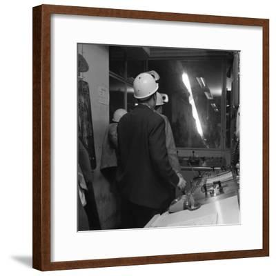 Steelworks Control Room, Park Gate Iron and Steel Co, Rotherham, South Yorkshire, 1964-Michael Walters-Framed Photographic Print