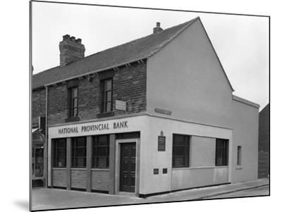 The National Provincial Bank, Goldthorpe, South Yorkshire, 1960-Michael Walters-Mounted Photographic Print