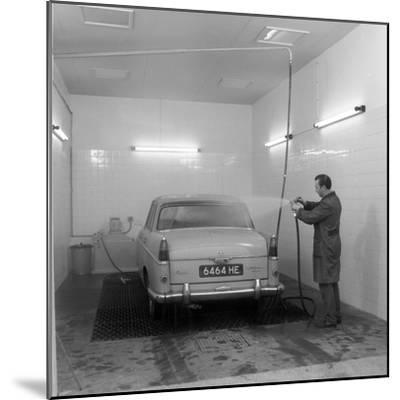 A 1961 Austin Westminster in a Car Wash, Grimsby, 1965-Michael Walters-Mounted Photographic Print