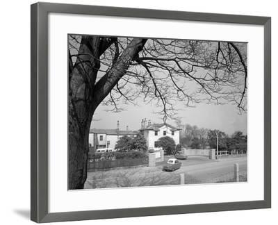 Two Bond Disabled Cars Outside the Ciswo Paraplegic Centre, Pontefract, West Yorkshire, 1960-Michael Walters-Framed Photographic Print