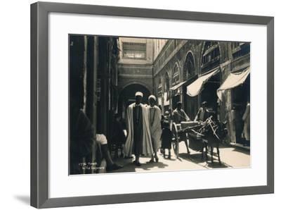 In the Bazaar, Tunis, Egypt, 1936--Framed Photographic Print