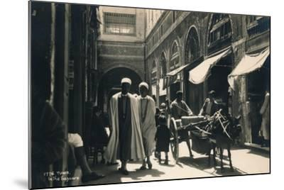 In the Bazaar, Tunis, Egypt, 1936--Mounted Photographic Print