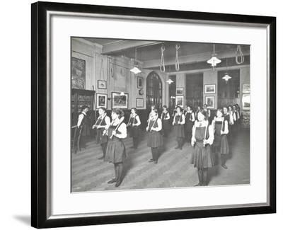 Students in the Gymnasium, Ackmar Road Evening Institute for Women, London, 1914--Framed Photographic Print