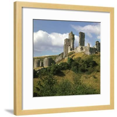 Corfe Castle, 11th Century- William the Conqueror-Framed Photographic Print