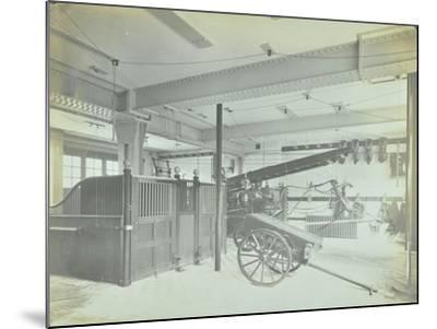 Interior of Appliance Room, Northcote Road Fire Station, Battersea, London, 1906--Mounted Photographic Print