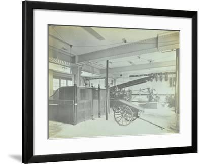 Interior of Appliance Room, Northcote Road Fire Station, Battersea, London, 1906--Framed Photographic Print
