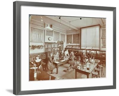 Science Class, Aristotle Road Girls School, Clapham, London, 1908--Framed Photographic Print