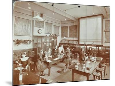 Science Class, Aristotle Road Girls School, Clapham, London, 1908--Mounted Photographic Print