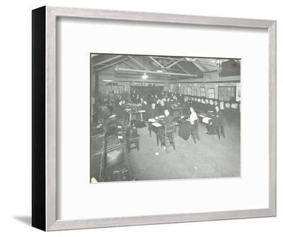 Typewriting Examination Class, Queens Road Evening Institute, London, 1908--Framed Photographic Print