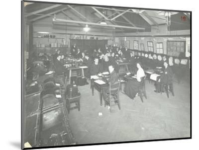 Typewriting Examination Class, Queens Road Evening Institute, London, 1908--Mounted Photographic Print