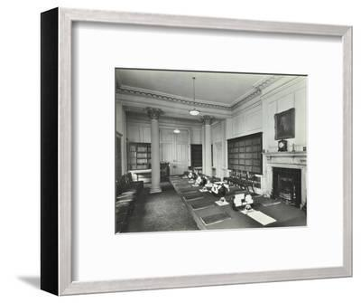 The Cabinet Room at Number 10, Downing Street, London, 1927--Framed Photographic Print