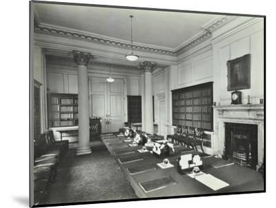 The Cabinet Room at Number 10, Downing Street, London, 1927--Mounted Photographic Print