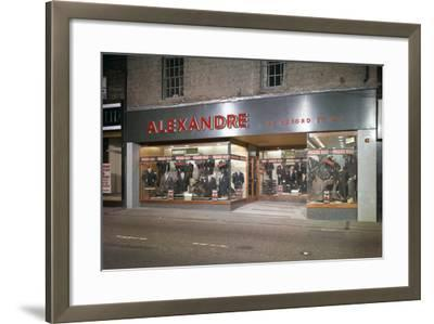 Alexandre of Oxford Street, Mens Clothes Shop Frontage, Mexborough, South Yorkshire, 1963-Michael Walters-Framed Photographic Print