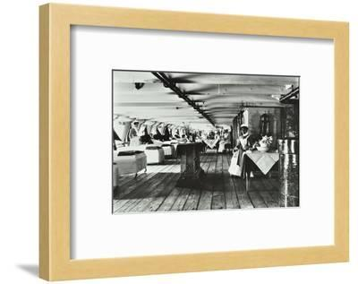 A Copy of a Photograph of the Ward Deck of the Atlas Smallpox Hospital Ship, C1890-C1899--Framed Photographic Print