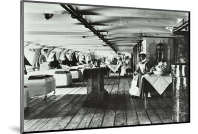 A Copy of a Photograph of the Ward Deck of the Atlas Smallpox Hospital Ship, C1890-C1899--Mounted Photographic Print