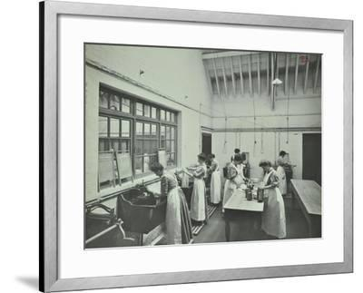The Washing Room, Battersea Polytechnic, London, 1907--Framed Photographic Print
