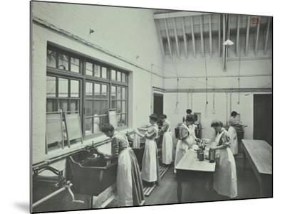 The Washing Room, Battersea Polytechnic, London, 1907--Mounted Photographic Print
