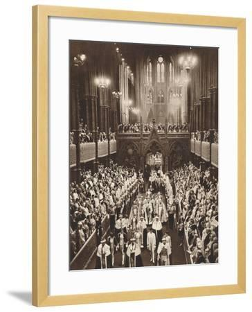 King George Vis Coronation Procession, Westminster Abbey, 1937--Framed Photographic Print