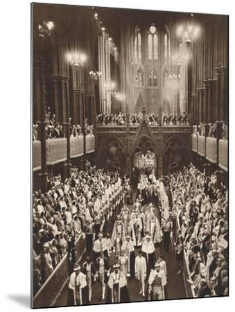 King George Vis Coronation Procession, Westminster Abbey, 1937--Mounted Photographic Print