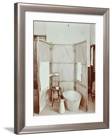 Improvised Bathroom, Shoreditch Technical Institute, London, 1907--Framed Photographic Print