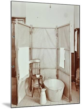 Improvised Bathroom, Shoreditch Technical Institute, London, 1907--Mounted Photographic Print