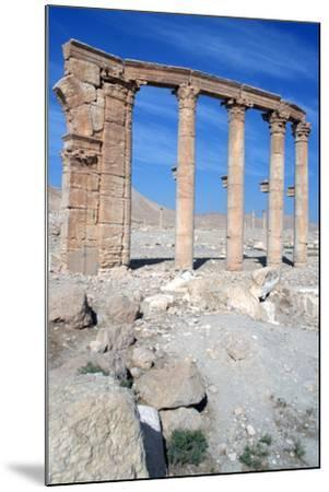 The Oval Piazza, Palmyra, Syria-Vivienne Sharp-Mounted Photographic Print
