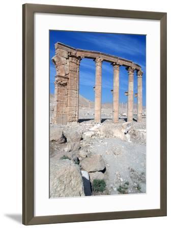 The Oval Piazza, Palmyra, Syria-Vivienne Sharp-Framed Photographic Print