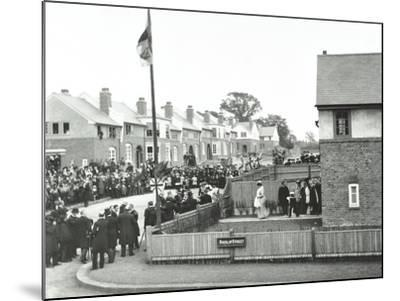 Opening Ceremony on Ruislip Street, Totterdown Estate, Wandsworth, London, 1903--Mounted Photographic Print