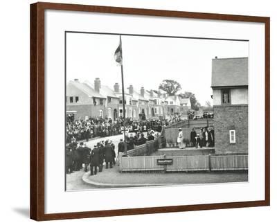Opening Ceremony on Ruislip Street, Totterdown Estate, Wandsworth, London, 1903--Framed Photographic Print