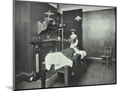 X-Ray Room, Fulham School Treatment Centre, London, 1914--Mounted Photographic Print