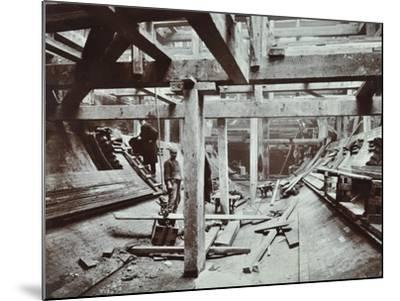 The Rotherhithe Tunnel under Construction, London, March 1905--Mounted Photographic Print