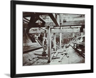 The Rotherhithe Tunnel under Construction, London, March 1905--Framed Photographic Print