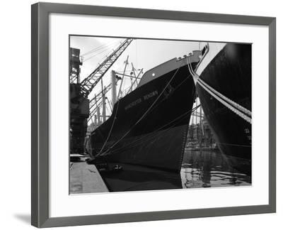 The Manchester Renown in Dock on the Manchester Ship Canal, 1964-Michael Walters-Framed Photographic Print