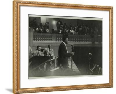 The Count Basie Orchestra in Concert, C1950S-Denis Williams-Framed Photographic Print
