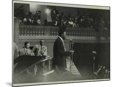 The Count Basie Orchestra in Concert, C1950S-Denis Williams-Mounted Photographic Print