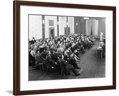 Danish Bacon Sales Team Meeting, Earl of Doncaster Hotel, 1964-Michael Walters-Framed Photographic Print