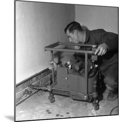 Installing a Damp Proof Course in a House in Goldthorpe, South Yorkshire, 1957-Michael Walters-Mounted Photographic Print