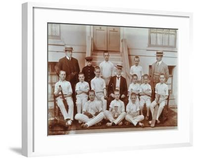 Cricket Team at the Boys Home Industrial School, London, 1900--Framed Photographic Print